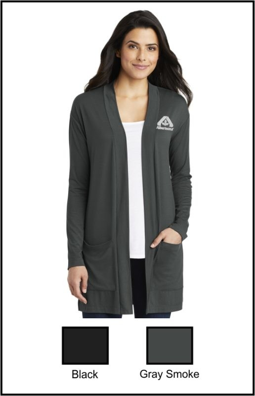 Albertsons LK5434 Ladies Concept Long Pocket Cardigan