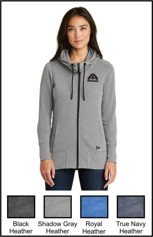 Albertsons LNEA511 Ladies Tri-Blend Fleece Full-Zip Hoodie