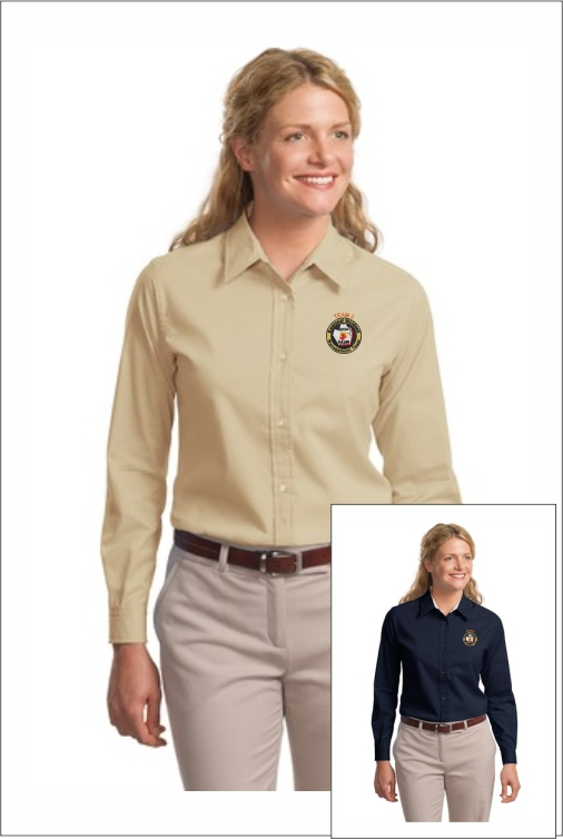 Z0018 Team 3 Ladies LS Dress Shirt