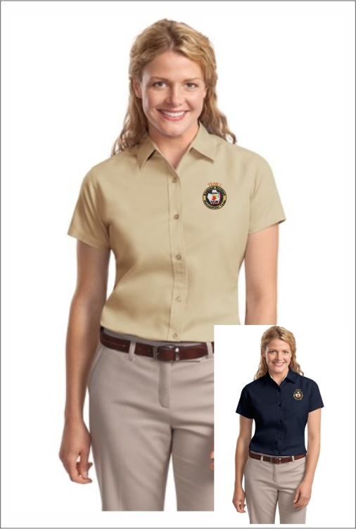 Z0020 Team 3 Ladies SS Dress Shirt