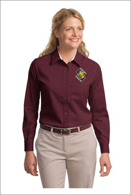 Z0721 GBRIMT Lund Ladies LS Dress Shirt