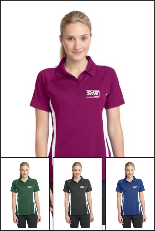 Z1005 S&W Ladies Colorblock Polo