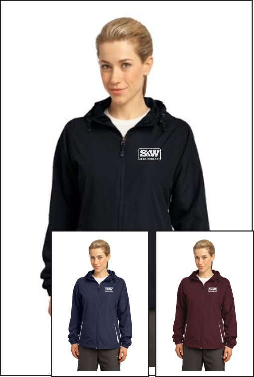 Z1007 S&W Ladies Hooded Raglan Jacket
