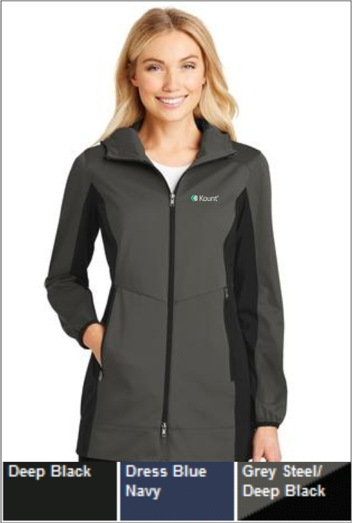 Z1259 Kount Ladies Hooded Soft Shell Jacket