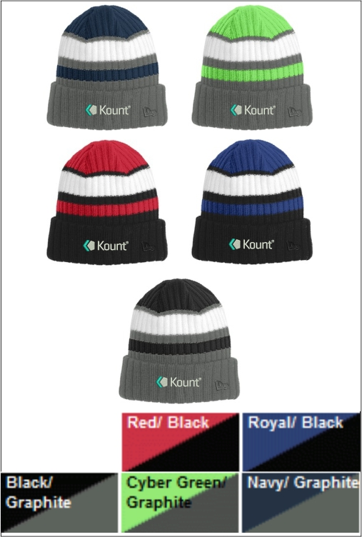 Z1261 Kount New Era Ribbed Beanie