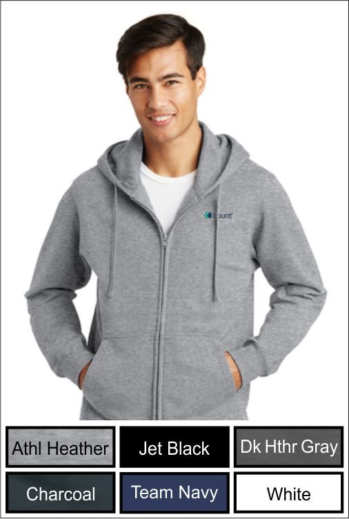 Z1270 Kount Port & Company® Fleece Full-Zip Hooded Sweatshirt