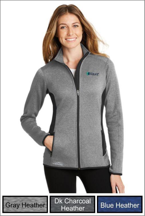 Z1276 Kount Eddie Bauer® Ladies Full-Zip Stretch Fleece Jacket
