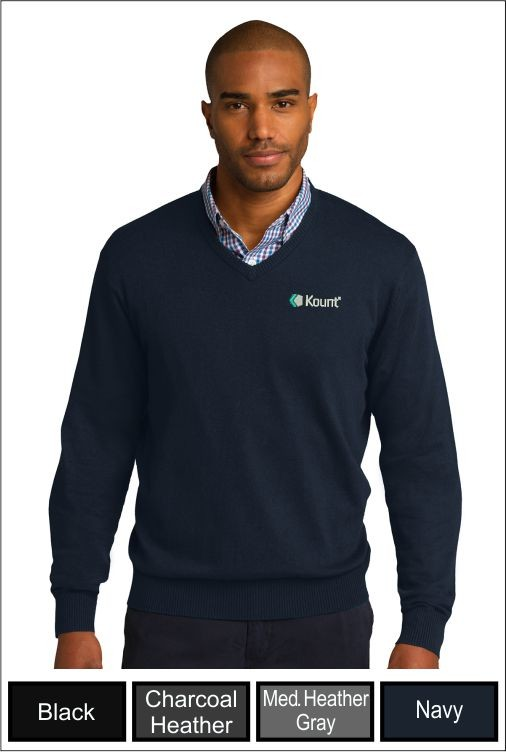 Z1292 Kount Port Authority V-Neck Sweater