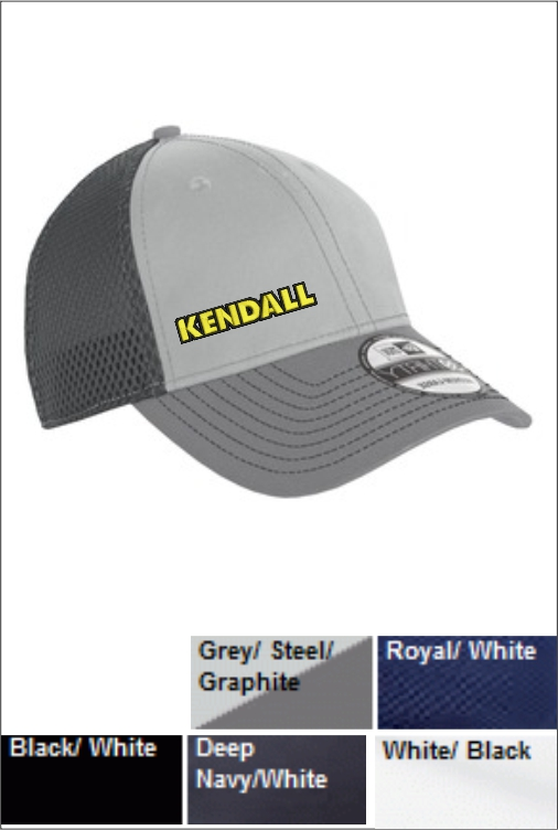 Z1802 Kendall Contrast Stitch Mesh Back Cap