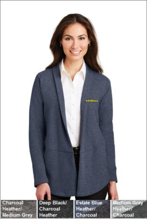 Z1807 Kendall Women's Interlock Cardigan