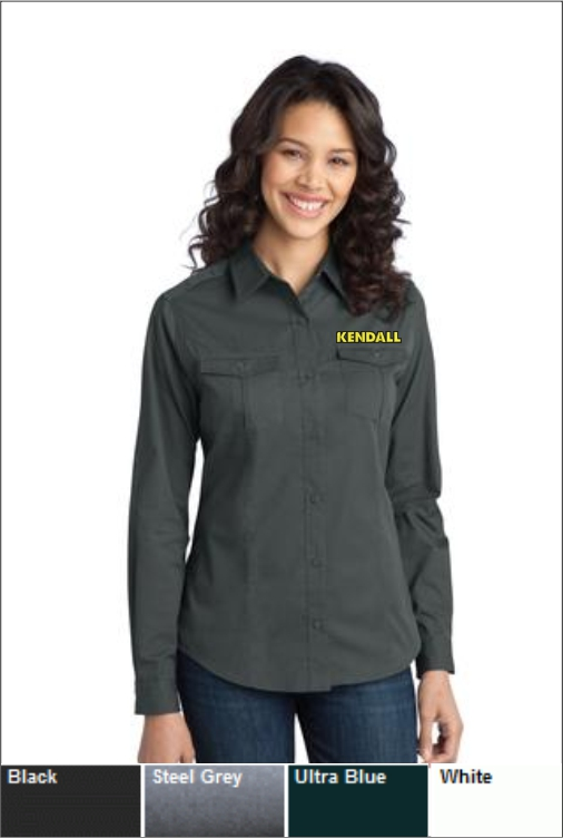 Z1809 Kendall Women's LS Stain Resistant Twill Shirt