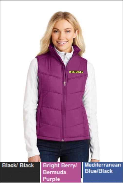 Z1816 Kendall Women's Puffy Vest