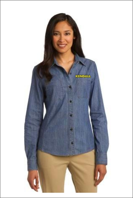 Z1821 Kendall Women's Denim Shirt