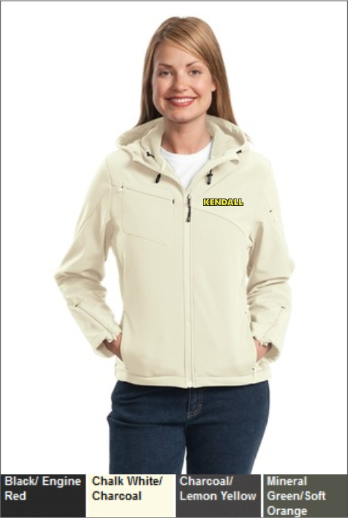 Z1824 Kendall Women's Hooded Soft Shell Jacket