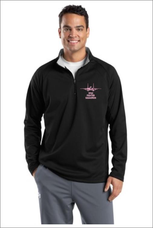 """Z5408 391st """"Pink Logo"""" 1/4 Zip Pullover Fleece"""