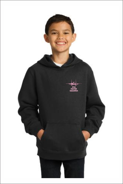 """Z5411 391st """"Pink Logo"""" Youth Pullover Hoodie"""