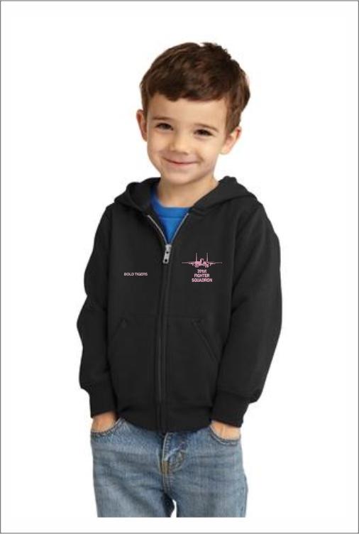"""Z5413 391st """"Pink Logo"""" Toddler Full Zip Hoodie"""